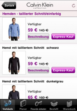 VentePrive: Express-Kauf Mobile-App