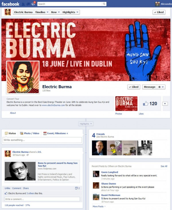 Electric Burma Facebook