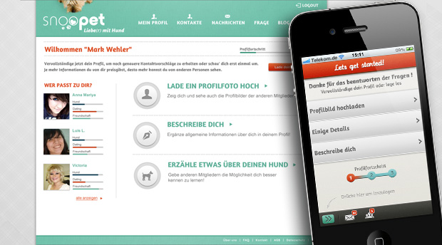 Hunde + Dating + Location-Based-Services: Wir konzipieren und ...