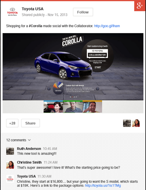 Hangout-Integration in Google+ Ads