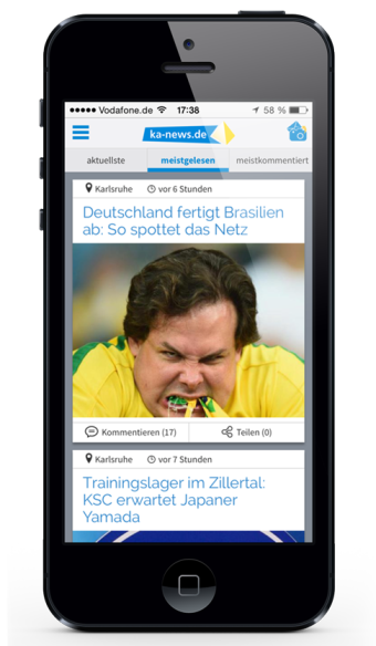 ka-news.de Home-Screen neu