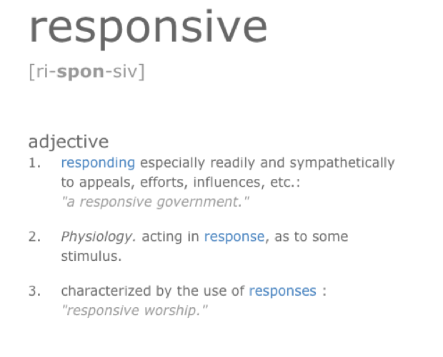 Responsive dictionary