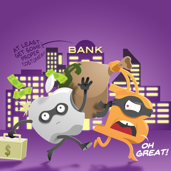 Banking ohne Banken, Illustration