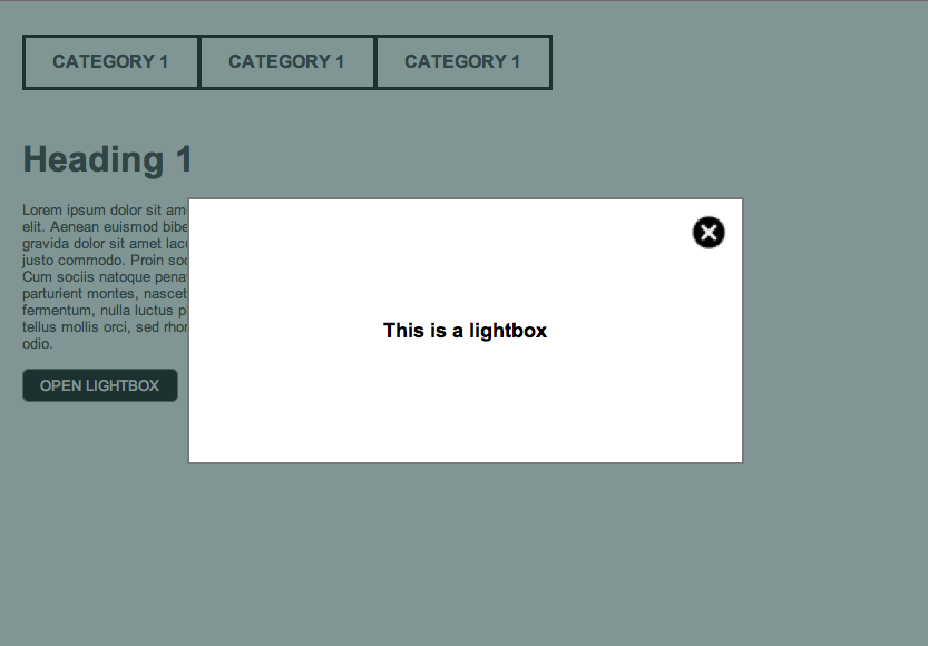 Lightbox in Axure 7