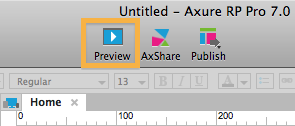 Preview-Funktion in Axure 7