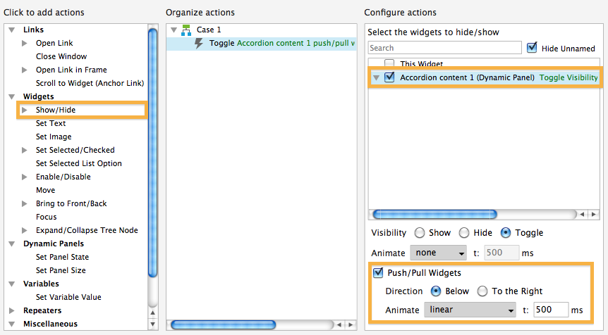 Push-Pull Widgets-Option in Axure 7