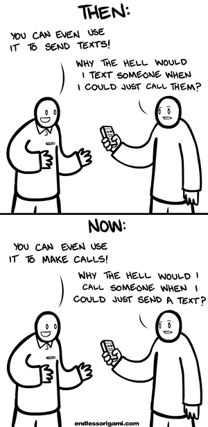 Text vs. Voice